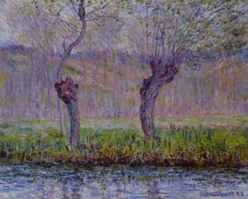 Claude Monet Painting - Willows in Spring Claude Monet